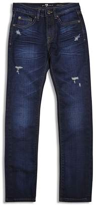 7 for All Man Kind Boys' Paxtyn Distressed Straight Jeans - Little Kid $55 thestylecure.com
