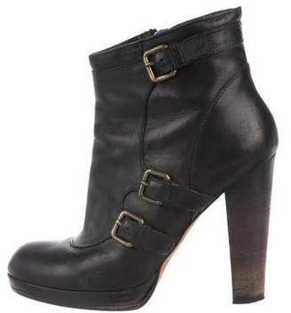 Derek Lam Leather Platform Ankle Boots