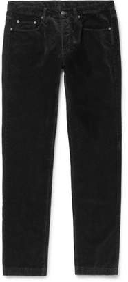 Massimo Alba Cotton-velvet Trousers - Black