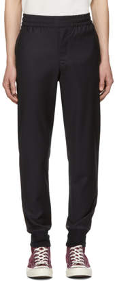 Paul Smith Navy Wool Drawcord Trousers
