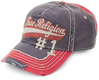 True Religion Men's Logo Script Baseball Cap
