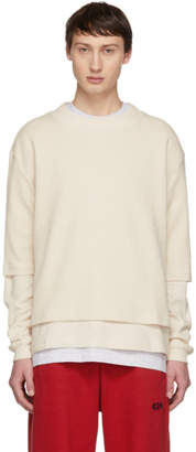 BEIGE 424 Waffle Double Layer Sweater