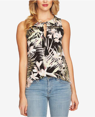 CeCe Printed Tassel Top