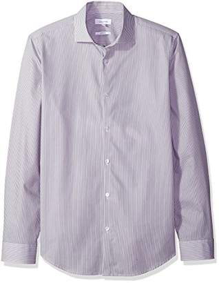 Calvin Klein Men's Stretch Cotton Button Down Shirt