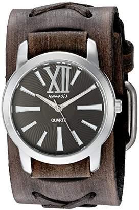 Nemesis Women's 'Roman Series' Quartz Stainless Steel and Leather Watch