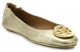 Tory Burch Minnie Travel Metallic Leather Ballet Flats