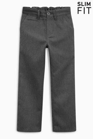 Boys Grey Chino Trousers (3-16yrs) - Grey