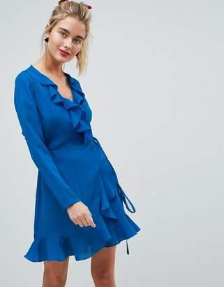 Asos DESIGN Ruffle Wrap Mini Dress