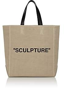 "Off-White Women's ""Sculpture"" Canvas Tote Bag - Cream"