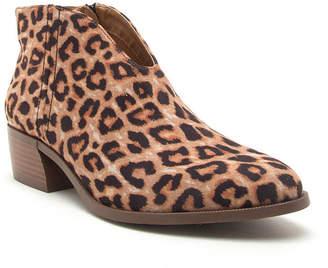 Qupid Womens Rager-27x Stacked Heel Zip Booties
