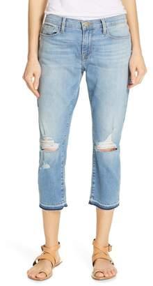 Frame Le Garcon Released Crop Hem Boyfriend Jeans