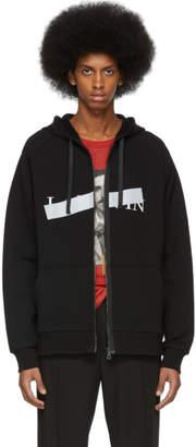 Lanvin Black Anti Logo Hoodie