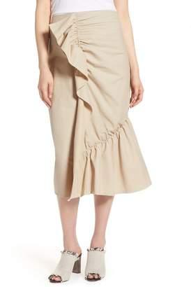 Halogen Ruffle Front Skirt (Regular & Petite)