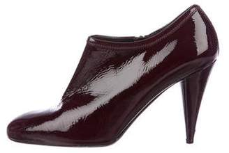 Prada Sport Patent Leather Round-Toe Booties