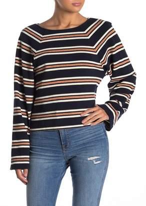 Madewell Wide Sleeve Metallic Stripe Top