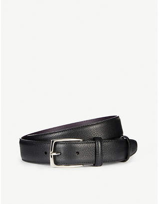 Elliot Rhodes Mottled textured leather belt