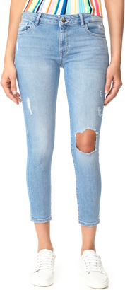DL1961 Florence Cropped Skinny Jeans $198 thestylecure.com
