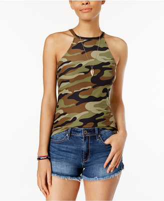 Planet Gold Juniors' Printed Racerback Tank Top $24 thestylecure.com