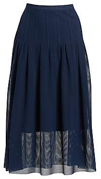 Akris Punto Women's Lace Bell Midi Skirt