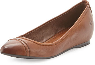 Frye Alicia Leather Ballerina Flat, Cognac $178 thestylecure.com