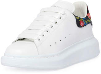 5700746e8020 Alexander McQueen Platform Leather Sneakers with Flower Back