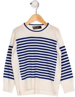 Loro Piana Boys' Stripe Cashmere Sweater
