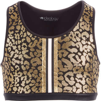 Macy's Ideology Big Girls Plus Animal-Print Sports Bra, Created for