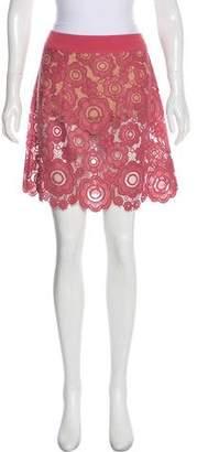 For Love & Lemons Lace Mini Skirt
