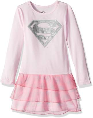 DC Comics Little Girl's Supergirl Sparkle Tutu Pajama Nightgown Sleepwear