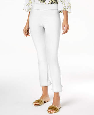 INC International Concepts I.n.c. Ruffled-Hem Ankle Skinny Pants