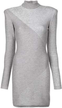 Balmain structured shoulder dress