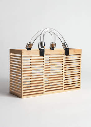 And other stories Clear Handle Wooden Tote