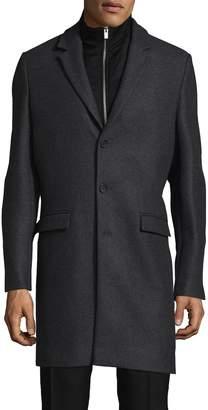 The Kooples Men's Authentic Wool & Cashmere Top Coat