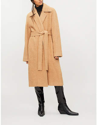 Helmut Lang Felted alpaca and wool-blend wrap coat