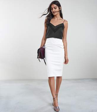 Reiss Icia Pleat Front Jersey Pencil Skirt