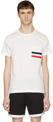 Moncler Off-White Flag Pocket T-Shirt