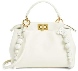 Fendi Mini Peekaboo Floral Leather Satchel