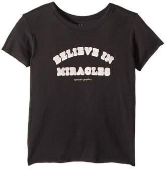 Spiritual Gangster Kids Believe Short Sleeve Tee Girl's T Shirt