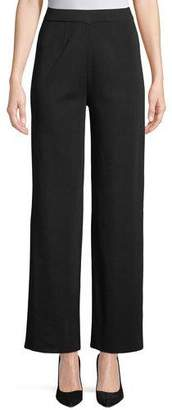 Misook Wide-Leg Knit Pull-On Pants, Petite