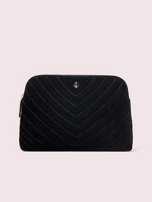 Kate Spade Amelia Velvet Medium Cosmetic Case, Black