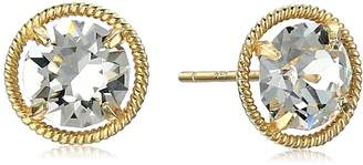 Swarovski Amazon Collection 10k Gold Made with Birthstone November Stud Earrings