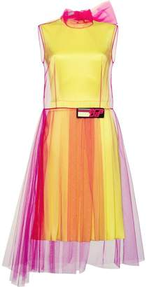 Prada tulle and silk satin dress