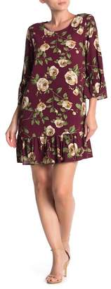 Everly Floral Printed Ruffle Dress