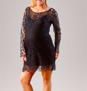 Velvet Long Sleeve Lace Dress