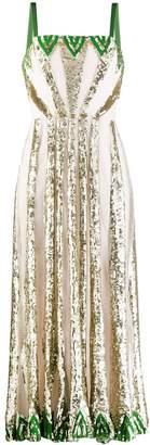 Temperley London sequin panelled dress