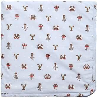 Fendi Printed Cotton Poplin & Jersey Blanket