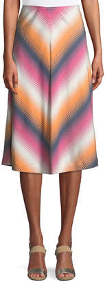 Atwater Village Serape Stripe Chevron Skirt