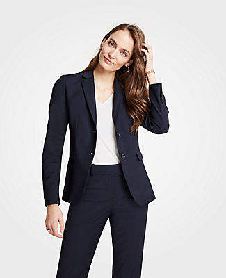 Ann Taylor The Tall Two-Button Blazer in Tropical Wool