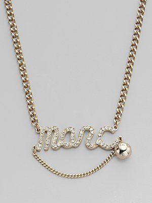 Marc by Marc Jacobs Marc Script Necklace