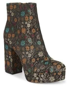 Sam Edelman Azra Floral Brocade Platform Booties